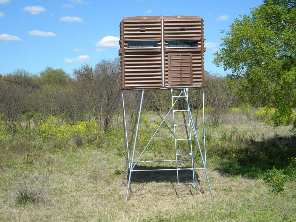 guy diy elevated tall one shack gear the hunting raised blinds tips